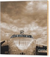 The Flying Boxcar  Wood Print