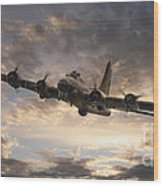 The Flying Fortress Wood Print