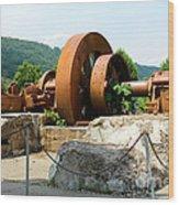 The Flywheel Wood Print