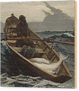 The Fog Warning .halibut Fishing Wood Print
