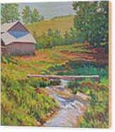 The Foot Bridge Wood Print