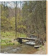 The Foot Bridge Wood Print