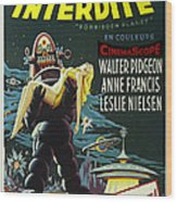 The Forbidden Planet Vintage Movie Poster Wood Print