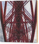 The Forth Bridge Up Close And Personal Wood Print