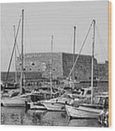 The Fortress And The Port In Iraklio City Wood Print