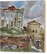 The Forum Wood Print