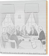 The Founding Fathers Drafting The Constitution Wood Print