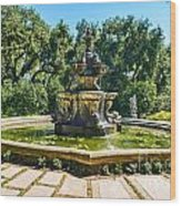 The Fountain - Iconic Fountain At The Huntington Library. Wood Print
