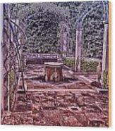 The Fountain Wood Print