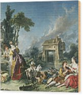 The Fountain Of Love Wood Print