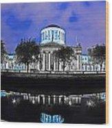 The Four Courts 5 - Dublin Ireland Wood Print
