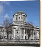 The Four Courts North Quays Dublin Wood Print