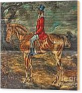The Fox Hunt With Light Antique Store Mural Griffin Georgia Art Wood Print
