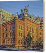 The Franklin School - Washington Dc Wood Print by Mountain Dreams