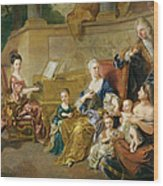 The Franqueville Family, 1711 Oil On Canvas Wood Print