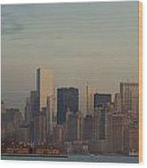 The Freedom Tower And Island Wood Print