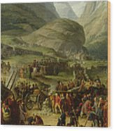 The French Army Travelling Over The St. Bernard Pass At Bourg St. Pierre, 20th May 1800, 1806 Oil Wood Print