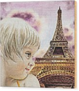 The French Girl Wood Print