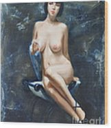 The French Model Wood Print by Sergey Ignatenko