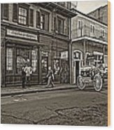 The French Quarter Sepia Wood Print