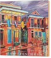The Frenchmen Hotel New Orleans Wood Print