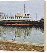 The Friesland In Enkhuizen Harbor-netherlands Wood Print