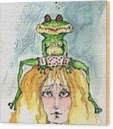 The Frog And The Princess Wood Print