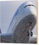 The Front Office Lufthansa Airbus A-380 Wood Print