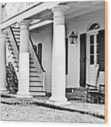 The Front Porch - Bw Wood Print