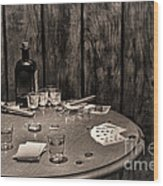 The Gambling Table Wood Print