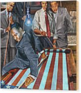 The Game Changers And Table Runners Wood Print by Reggie Duffie