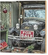 The Garage Sale Wood Print by JC Findley