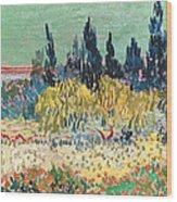 The Garden At Arles, Detail Wood Print