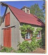 The Garden Barn Wood Print
