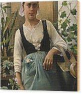 The Garden Girl Wood Print