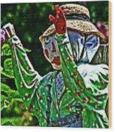 The Garden Guy Wood Print