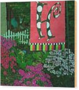 The Garden Wood Print