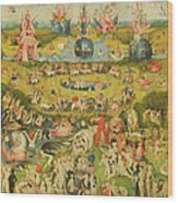 The Garden Of Earthly Delights Allegory Of Luxury, Central Panel Of Triptych, C.1500 Oil On Panel Wood Print
