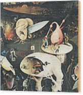 The Garden Of Earthly Delights Hell, Right Wing Of Triptych, C.1500 Oil On Panel See 322, 3425 Wood Print