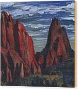 The Garden Of The Gods II Wood Print