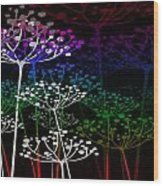 The Garden Of Your Mind Rainbow 2 Wood Print