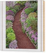 The Garden Poster Wood Print