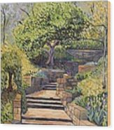 The Garden Stairs Wood Print