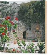 The Garden Tomb. East Jerusalem. Wood Print