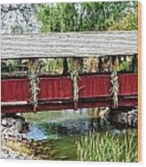 The Gardner Villiage Bridge Wood Print