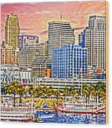 The Garish City Cincinnati Wood Print