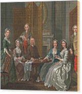 The Gascoigne Family, C.1740 Wood Print