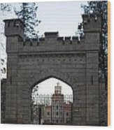 The Gates Leading Into New Sigulda Castle Wood Print