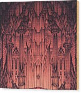 The Gates Of Barad Dur Wood Print by Curtiss Shaffer