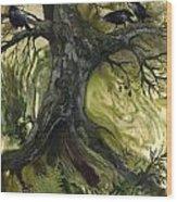 The Gathering Tree Wood Print